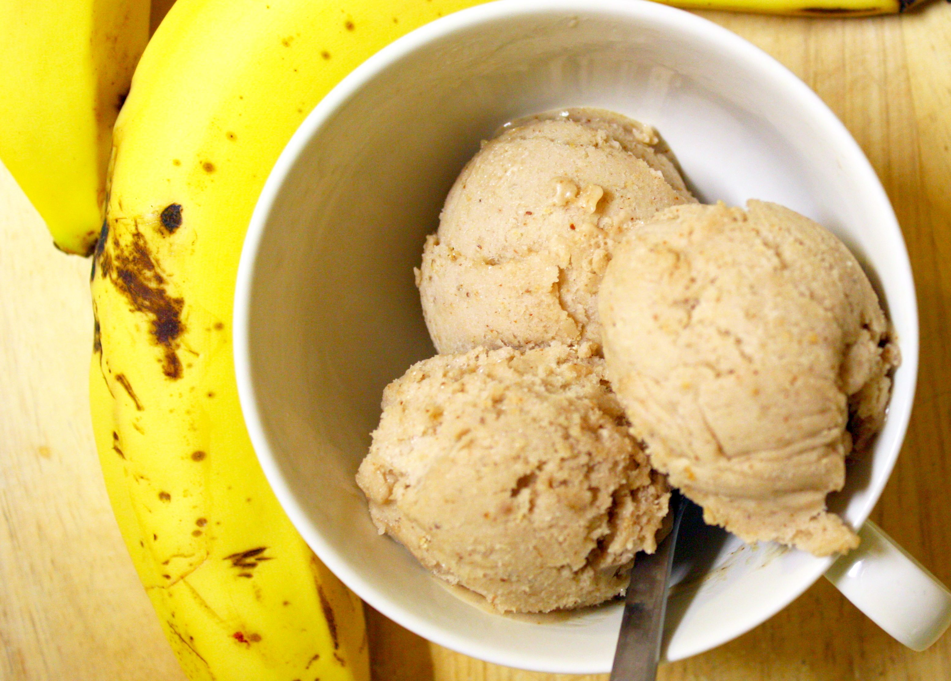 3-Ingredient PB&J Banana Ice Cream