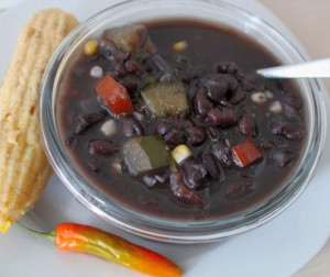 Black Beans With Squash and Fresh Corn
