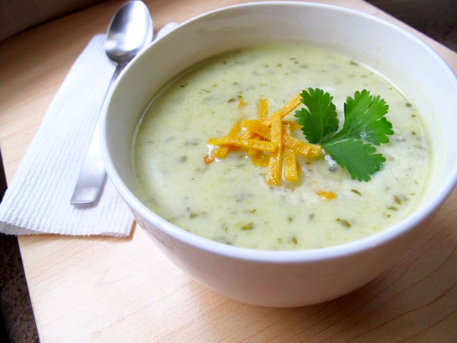 Cream of Celery and Cilantro Soup » Whisked Foodie