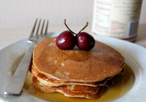 Chocolate Cherry Pancakes