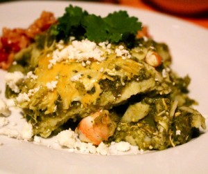 Chilaquiles Verdes With Shrimp and Calabaza
