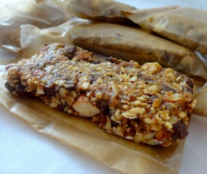 Chocolate Chip Almond Butter Granola Bars