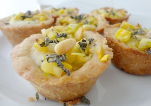 Leek and Summer Squash Tartlets With Brie and Sage