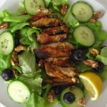Salad With Blueberries, Walnuts, and Lemon Basil Chicken