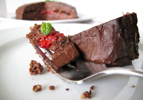 Decadent Raw Raspberry Cacao Fudge Cake