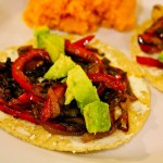 Peperonata Tostadas With Goat Cheese and Avocado