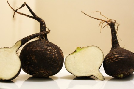 Whole Black Radishes