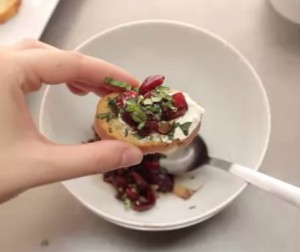 How to Make Bruschetta with Goat Cheese and Cherries