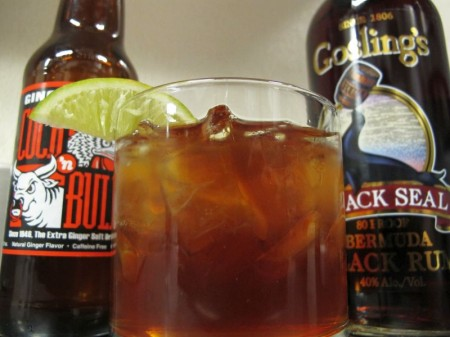Dark & Stormy Cocktail