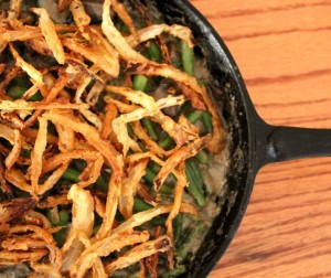 Green Bean Casserole With Tahini, Beer, and Fresh Fried Onions