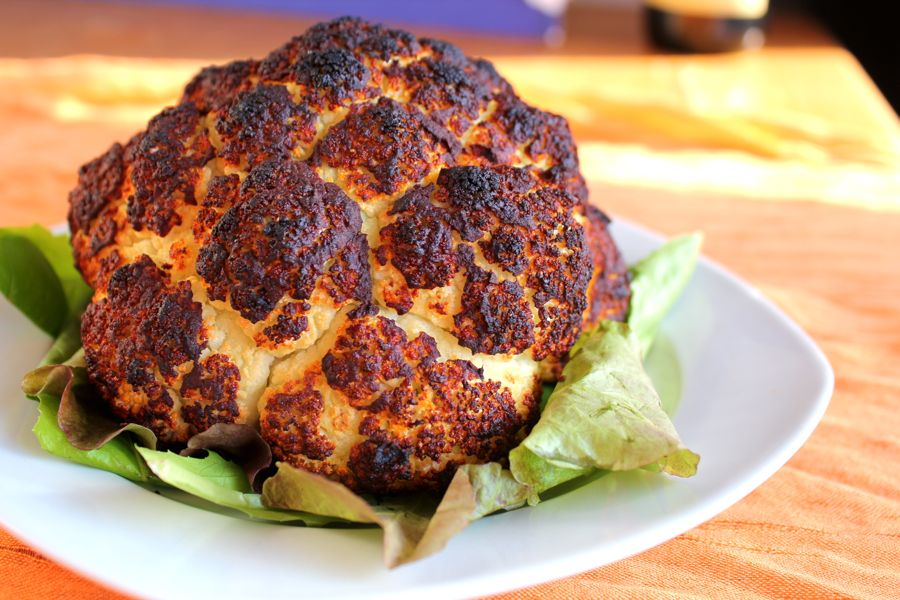roasted cauliflower this simply roasted whole head cauliflower ...