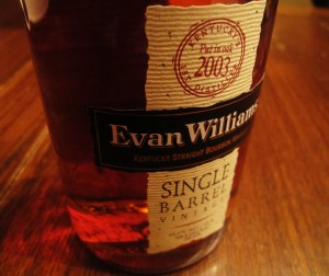 Evan Williams Single Barrel Vintage 2003 Bourbon Review