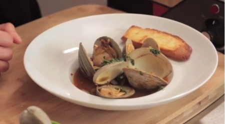 Video: Clams With Salsa Verde and Chorizo