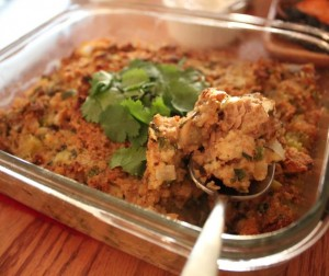 Oyster Cornbread Stuffing With Jalapeo, Cilantro, &amp; Lime