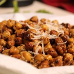 Roasted Chick Peas With Parmesan &amp; Basil