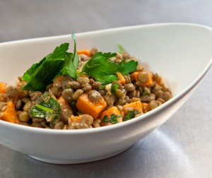Green Lentil & Sweet Potato Salad