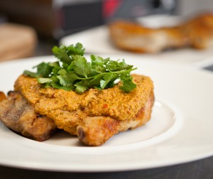 Pan-fried Chicken With Tomatillo-Pepita Sauce