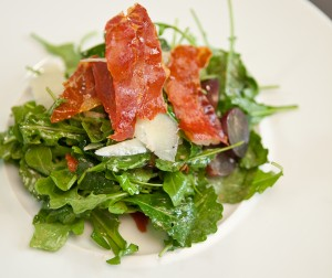 Arugula-Kale Salad With Serrano Ham