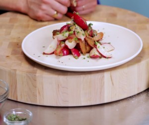 Radish Rhubarb Salad