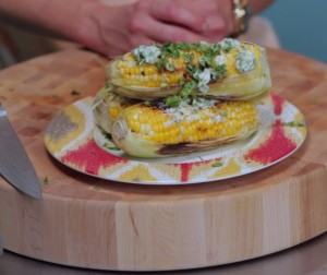 Charred Corn With Jalapeno Butter