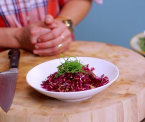 Video: Shredded Beet and Red Cabbage Salad