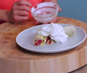 Video: Crepes With Fresh Raspberries and Nutella